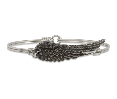 ANGEL WING SILVER BANGLE SMALL