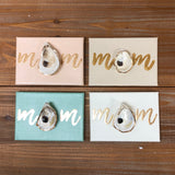 5X7 CANVAS ONE SHELL-MOM-LIGHT TAUPE