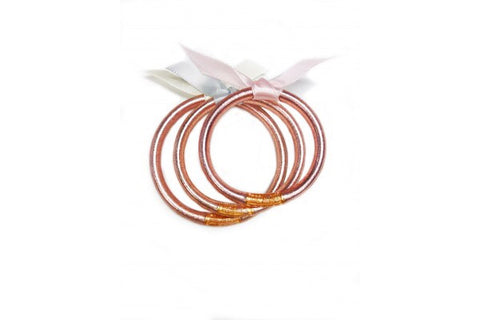SINGLE BABY ALL WEATHER BANGLE ROSE GOLD