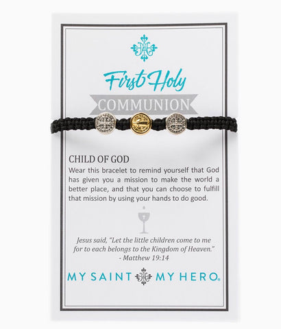 1ST COMMUNION KIDS BRACELET BLACK