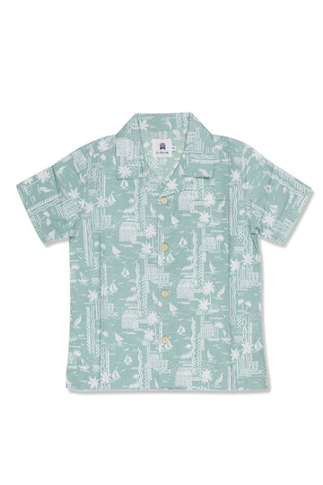 By The Sea Bali Bali Tropical Shirt Green