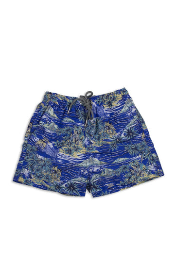 By The Sea Bali Kids Tropical Swimtrunk Blue Sea