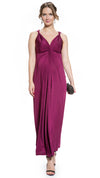 Twist Shoulder Maternity and Nursing Maxi Dress Purple Color