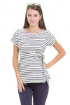 Striped maternity nursing top