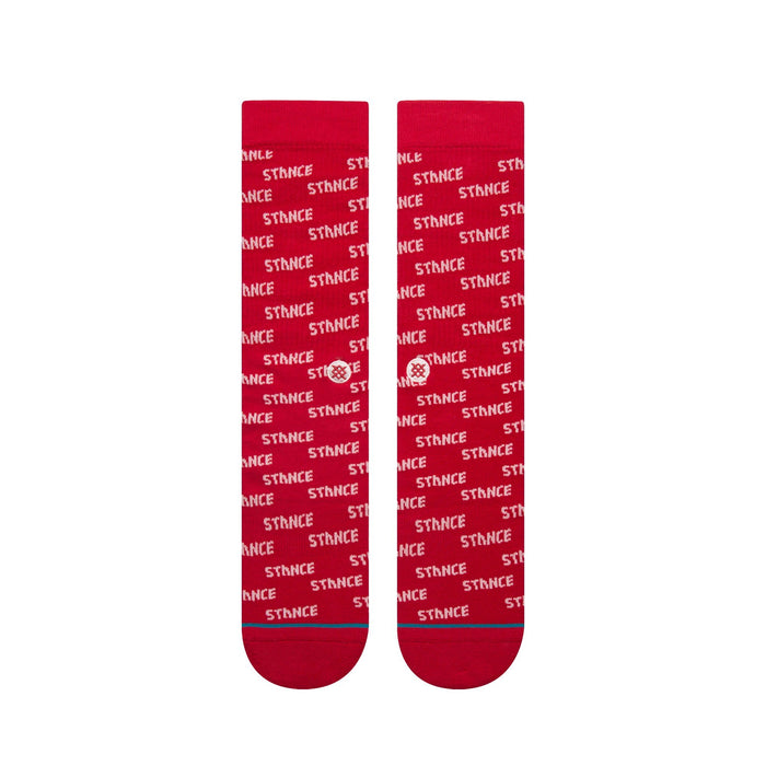 Stance Socks Repeat Red