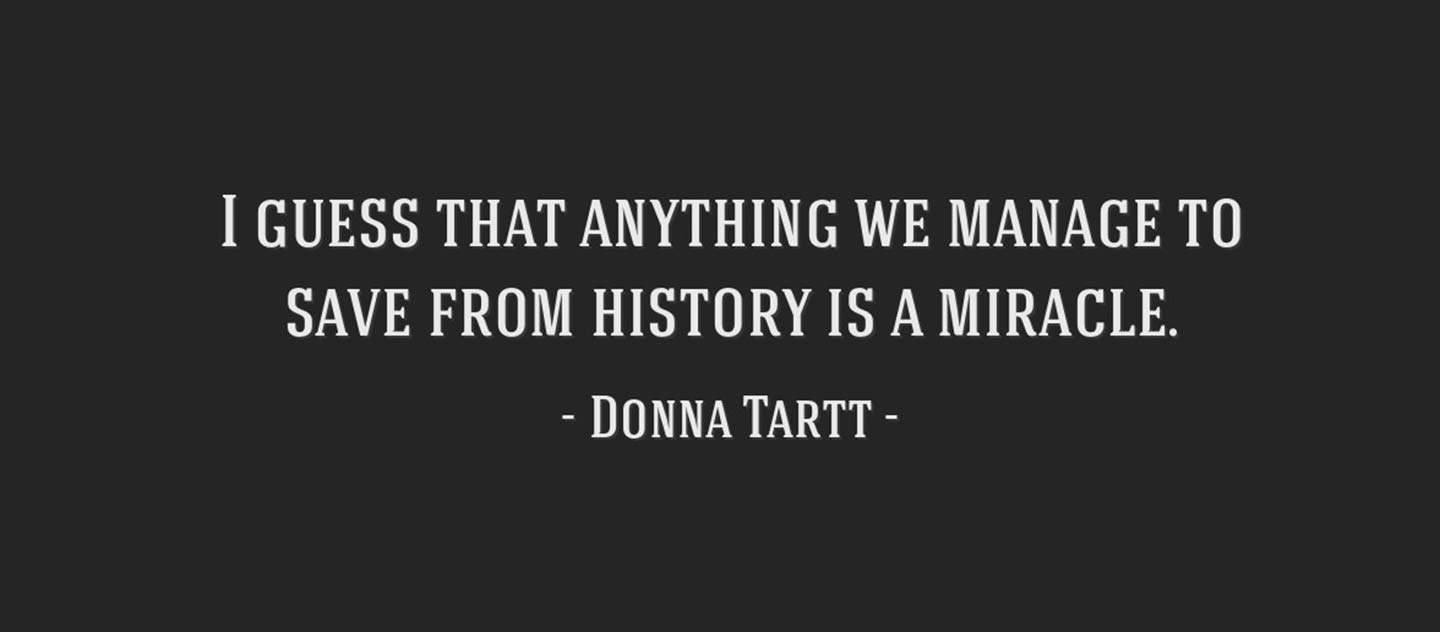 Donna Tartt Quote from Goldfinch Book