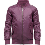 Girls MA1 Bomber Jacket Burgandy