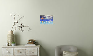 Fire Wind and Lightning; Sun Moon and Heavens Canvas Print in room (phone), wrap: white, size: 12x18""