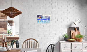 Fire Wind and Lightning; Sun Moon and Heavens Canvas Print in editorial (dining room), wrap: white, size: 12x18""