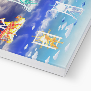 Fire Wind and Lightning; Sun Moon and Heavens Canvas Print in closeup, wrap: white, size: 12x18""