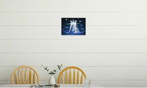 Silver Moon Unicorn Canvas Print in room (kitchen), wrap: white, size: 12x18""