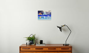Fire Wind and Lightning; Sun Moon and Heavens Canvas Print in room (sideboard), wrap: white, size: 12x18""