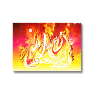 Ruby Fire Phoenix Canvas Print in fixedflat, wrap: white, size: 12x18""