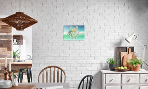 Abbeysfold Fields and Clouds Canvas Print in editorial (dining room), wrap: white, size: 12x18""