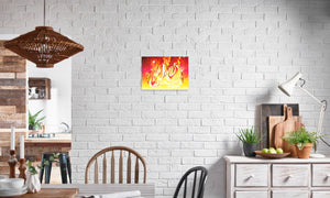 Ruby Fire Phoenix Canvas Print in editorial (dining room), wrap: white, size: 12x18""