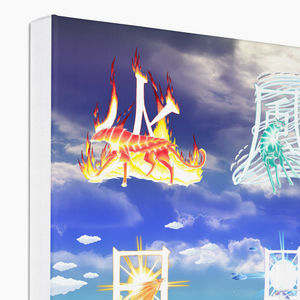Fire Wind and Lightning; Sun Moon and Heavens Canvas Print in corner, wrap: white, size: 12x18""
