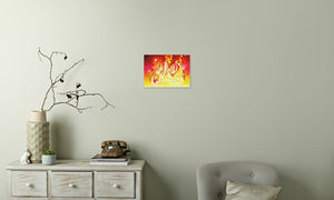 Ruby Fire Phoenix Canvas Print in room (phone), wrap: white, size: 12x18""