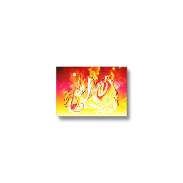 Ruby Fire Phoenix Canvas Print in head on, wrap: white, size: 12x18""