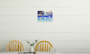Fire Wind and Lightning; Sun Moon and Heavens Canvas Print in room (kitchen), wrap: white, size: 12x18""