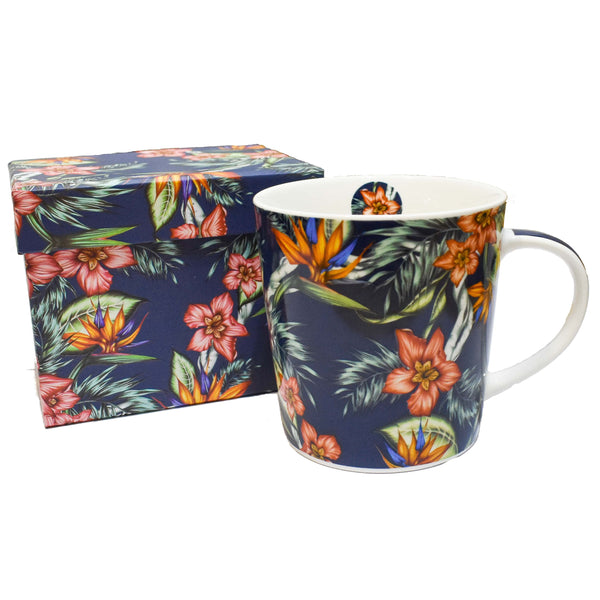 Taza Tropical Flowers - Ironica Tea Shop