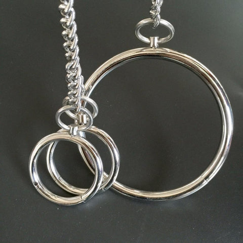 Image of Collar and Wrist Cuffs, Stainless Steel - Cuffs - BDSM Collar Store