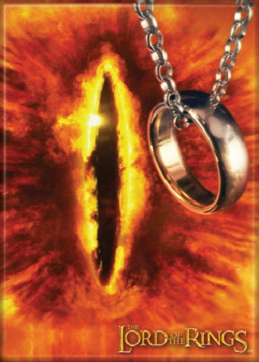 Lord of the Rings Eye of Sauron with Ring Photo Magnet