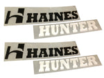 Genuine Haines Hunter Std Decal set.