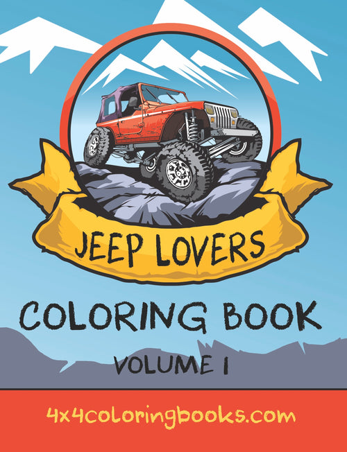 Jeep Lovers Coloring Pages Book Cover