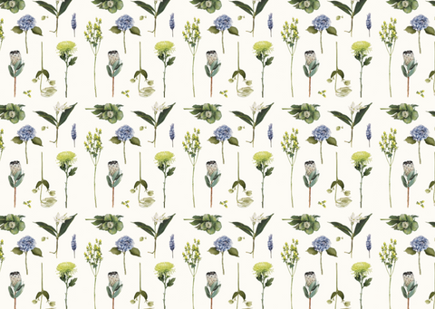 Father Rabbit Stationery | Wrapping Paper | Flowers