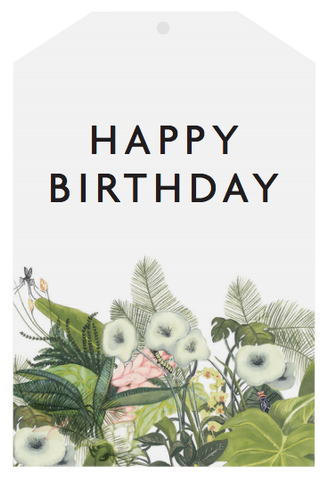 Father Rabbit Stationery | Gift Tag | Happy Birthday Botanical