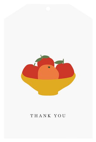 Father Rabbit Stationery | Gift Tag | Orange Thank you