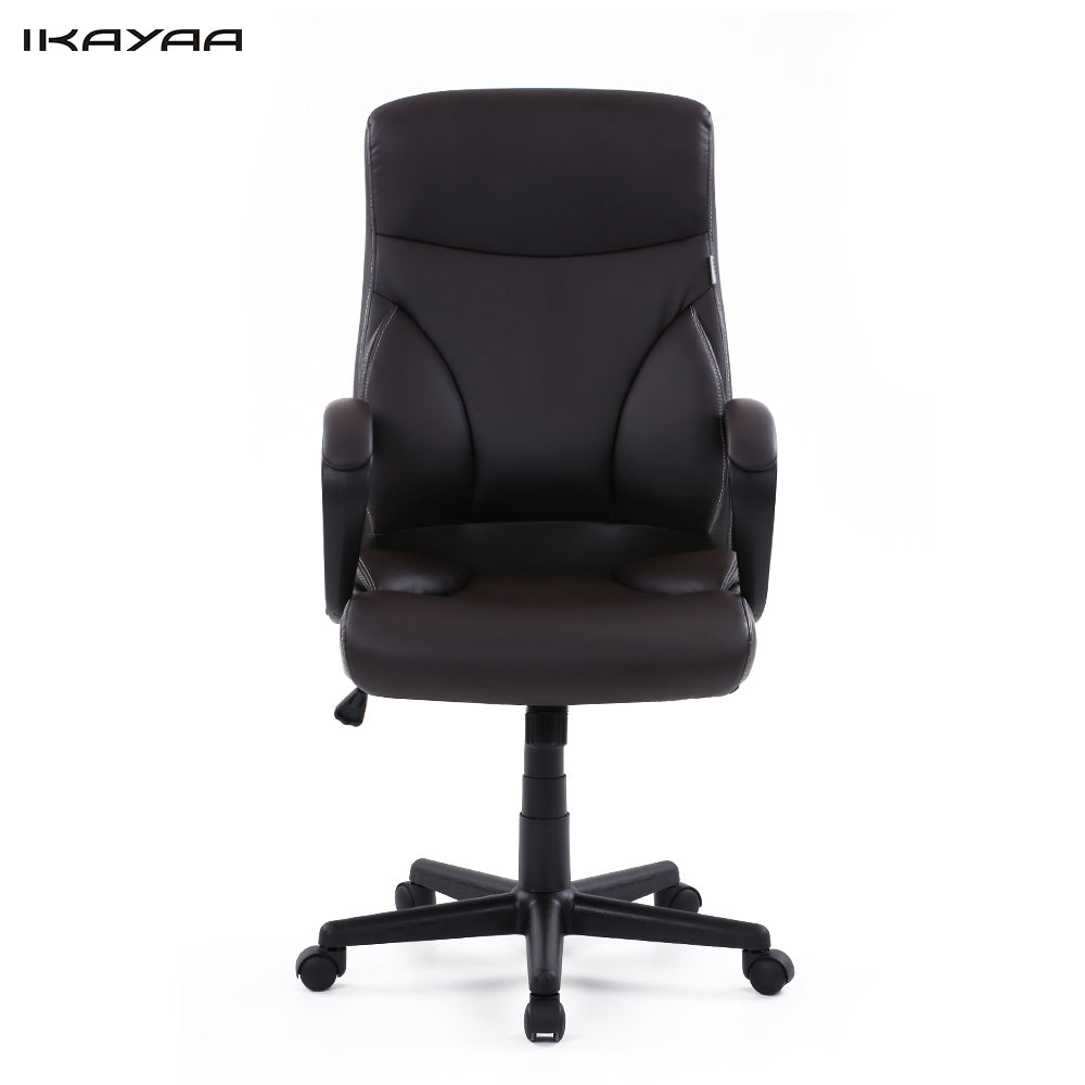 iKayaa Dxracer PU Leather Adjustable Swivel Office Executive Chair Stool High Back