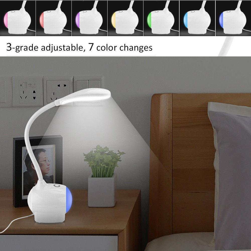 New LED Table Lamp Smart Touch Sensor Flexible Desk Lamp Dimmer Colorful LED Light Reading Light USB power soure