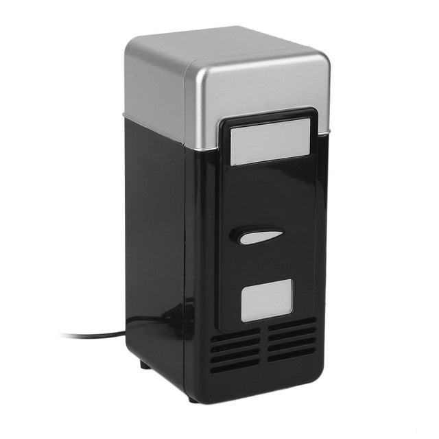 Black ABS 5V 10W USB 19.4x9x9cm Car Mini Fridge Portable Cooler
