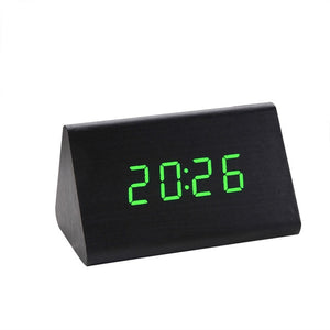 Digital Clock Creative Temperature Display Sounds Control Electronic LED Alarm Clock Home Decor Desk Clock # Z