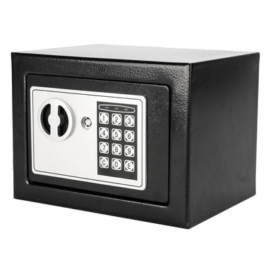 Electronic Password Steel Plate Safe Box Black