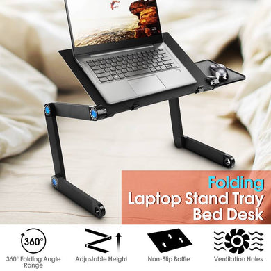Portable Adjustable Foldable Laptop Notebook PC Desk Table Vented