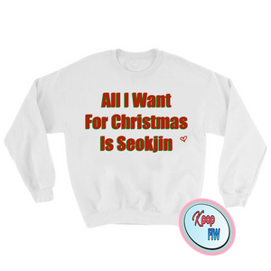 "[BTS] ""All I want for Christmas is Seokjin"" Sweater"