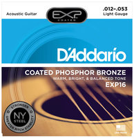 D'Addario EXP Phosphor Bronze Coated Light 12-53 Guitar Strings