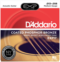 D'Addario EXP Phosphor Bronze Coated Medium 13-56 Guitar Strings
