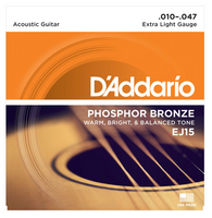 D'Addario Phosphor Bronze Extra light 10-47 Guitar Strings