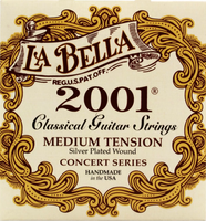 La Bella 2001 Classical Guitar Strings Medium Tension Guitar Strings
