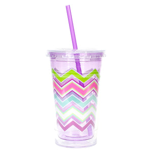 Cool Gear | 20 Oz Easter Printed Chiller in Pastel Purple / Easter Stripes