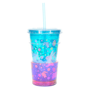 Cool Gear | 20 Oz Easter Sparkle Chiller in Pastel Blue / Bunnies And Eggs