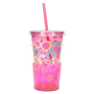 Cool Gear | 20 Oz Easter Sparkle Chiller in Pastel Pink / Flowers And Circles