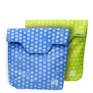 Green Dots / Blue Dots Reusable Sandwich Bags 2-Pk at Cool Gear Lunch Bags