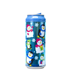 Royal Blue / Snow Buddies 16 Oz Holiday Foil coolgearcan at Cool Gear Winter Holiday
