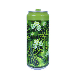 Leopard Shamrocks 16 Oz St. Patrick's Day coolgearcan at Cool Gear St. Patrick's