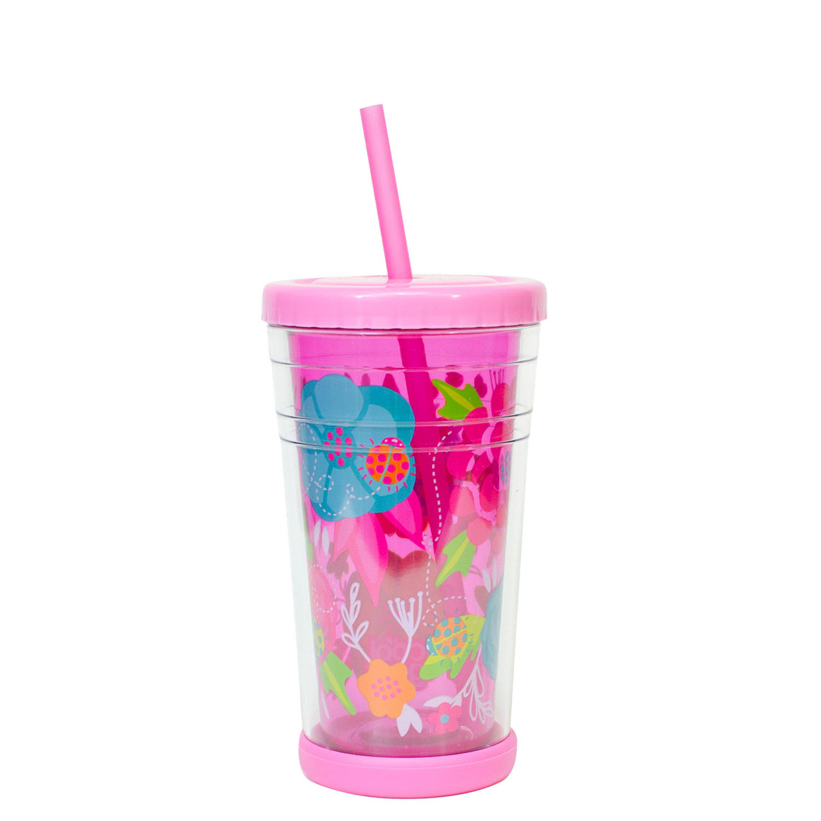 Cool Gear | 12 Oz Easter Printed Chiller Tumbler in Pastel Pink / Flowers