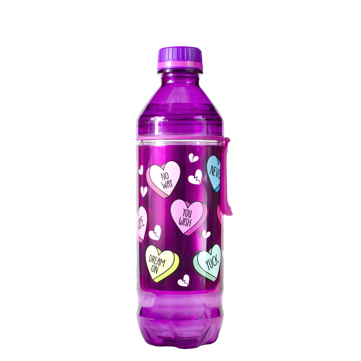 Purple / Candy Hearts 18 Oz Double Wall Valentines coolgearpop at Cool Gear Valentines